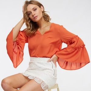 Coral Bell sleeved blouse